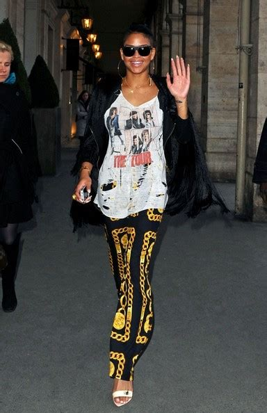 Cassie wearing Givenchy Pre-Fall 2012 T-shirt Front Row at