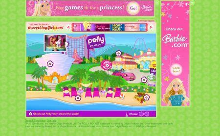 """The old polly pocket website (well, the """"new"""" old polly"""