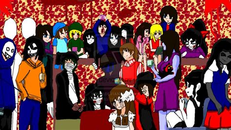 The creepypasta family!!! | We Heart It | slenderman, jeff