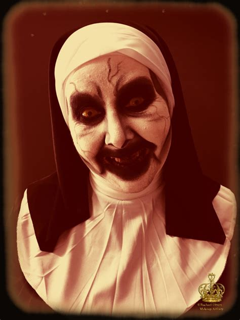 Valak the Demon Nun Halloween makeup look - Makeup