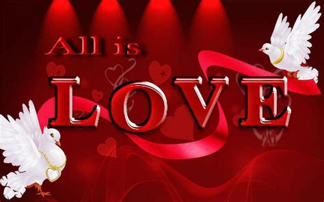 All Love Red Hearts White Doves Gold 3d And 2560x1600 Hd