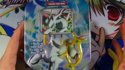 "Best Pokemon Platinum Arceus Tin Opening Ever! ""Blue"