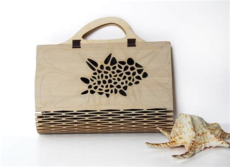 » Voronoi & Delaunay Pattern Wooden Bag by Made In Love Studio