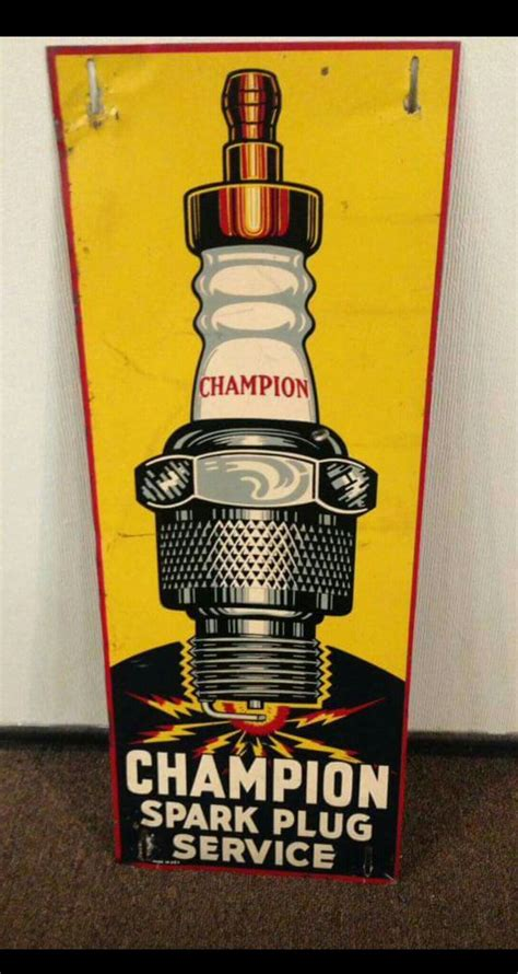 Original Champion Spark Plugs Tin Sign (With images
