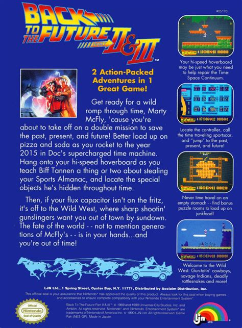 Back to the Future Part II & III Details - LaunchBox Games