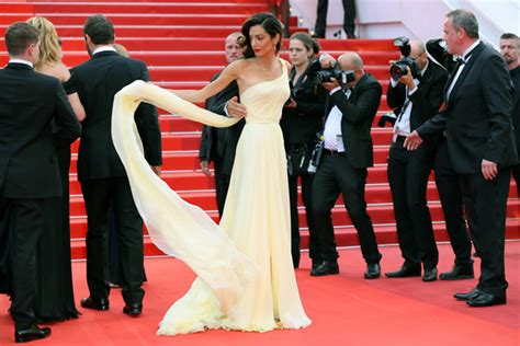 George Clooney's wife Amal struggles with dress at Cannes