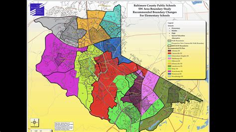 Southwest Boundary school redistricting map presented to